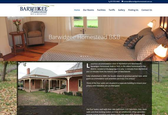 Albury Wodonga Website Designer - Barwidgee Homestead B&B