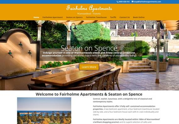 Albury Wodonga Website Designer - Fairholme Apartments