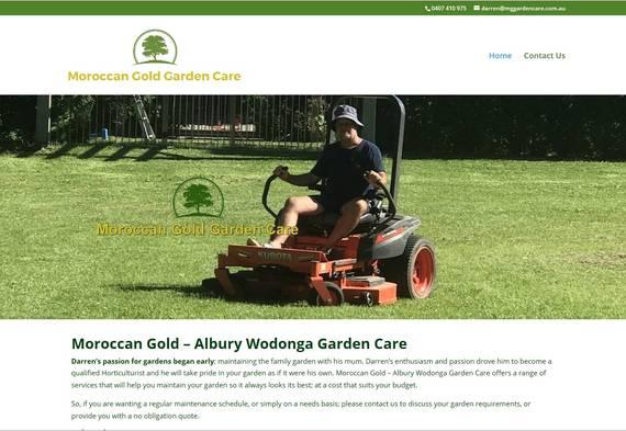 Albury Wodonga Website Designer - Moroccan Gold Garden Care